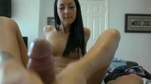 Sabrina comes for seconds. This time a footjob and blowjob